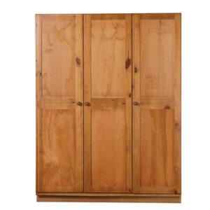 Detroit Wardrobe - 3 Door - Ply Wood Doors