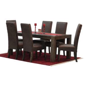 7Pc Rustic Dining Room Suite