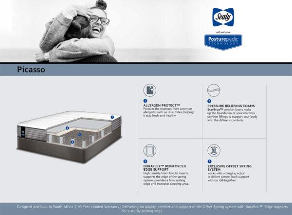 Sealy Posturepedic - Picasso - Base Set